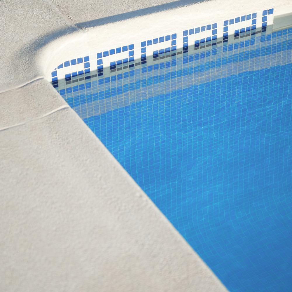 frise de piscine en mosaique