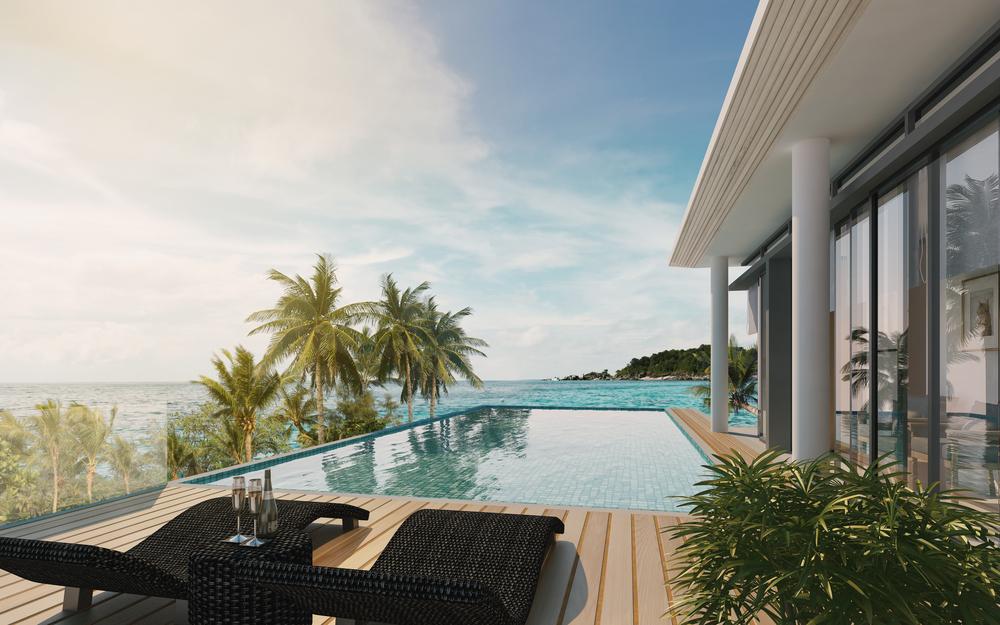 piscine avec terrasse escamotable