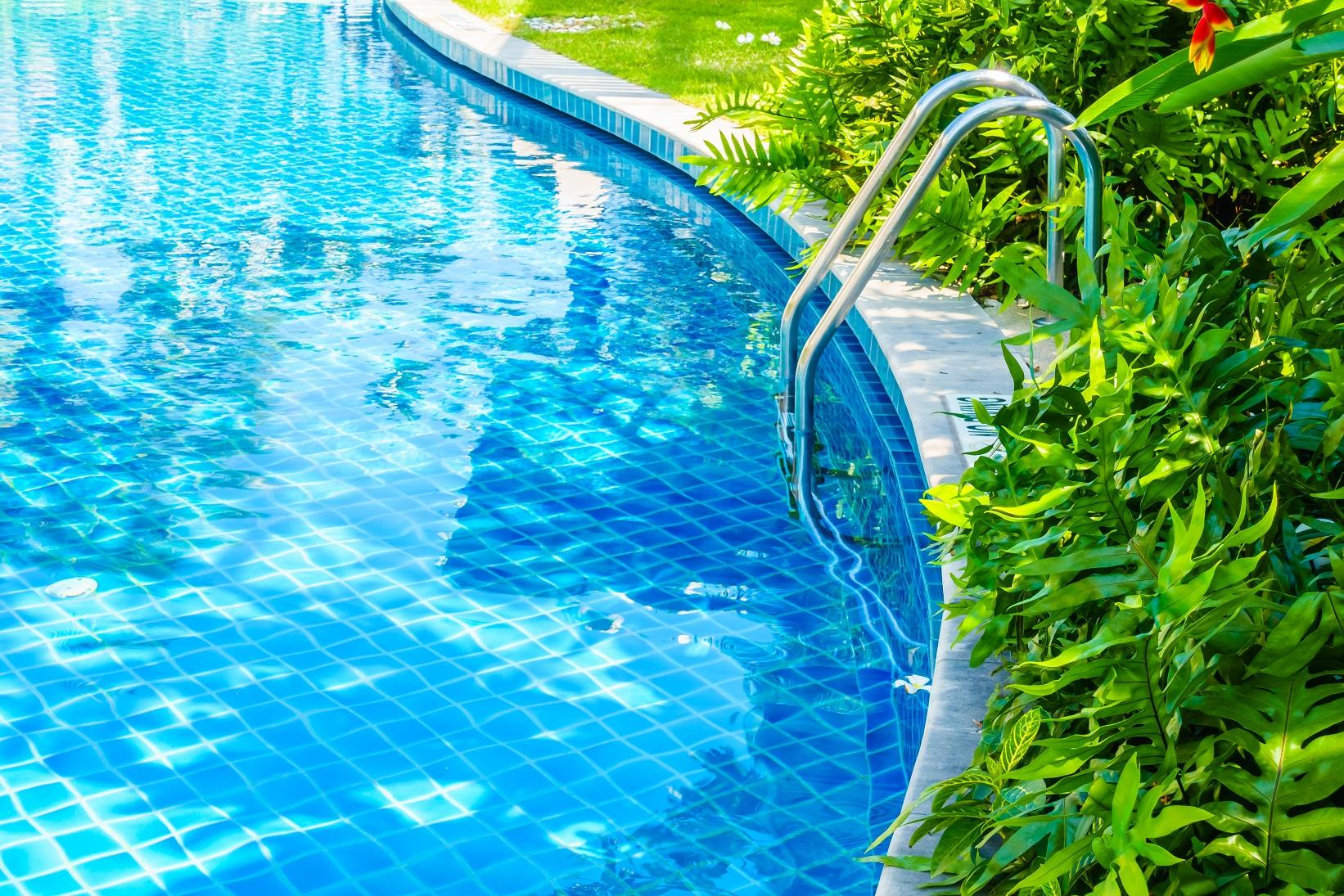 intégration de la piscine dans le jardin